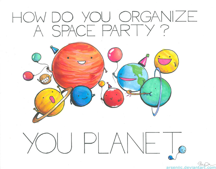 how do you organize a space party